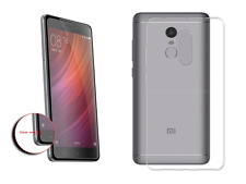 Gel Cases & Glass Screen Protectors For Xiaomi Smart Phones Clear Slim Cover