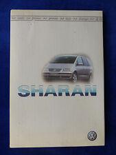 VW Sharan - Typ I Facelift - Pressemappe press-kit 04.2000
