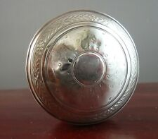 Vintage French Sterling Silver Pill Box