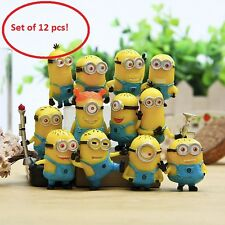 New Despicable Me 2 Movie Character Minions Doll Toy Cute Figures set of 12pcs