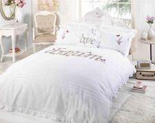 Linge de lit et ensembles blanc avec des motifs Brodé