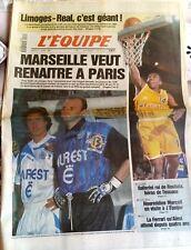 L'Equipe Journal 11/4/1995; Limoges-Real c'est géant/ Ballerini héros de Toscane