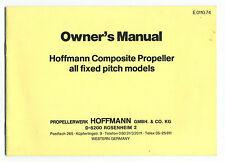(110) Owner's Manual Hoffmann Composite Propeller / CAARP CAP10 -ROBIN - SCHEIBE