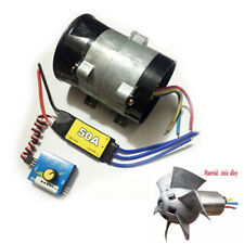 12V Car Electric Turbo Supercharger Kit Air Intake Fan Boost w/50A Brushless ESC
