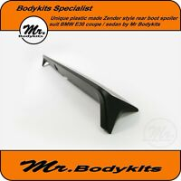 Plastic made Zender Style rear boot spoiler for BMW E30 series Coupe/4 Door