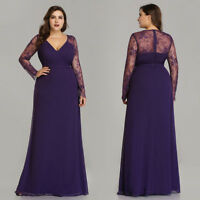 Ever-Pretty US Plus Size Formal Evening Prom Gown Mother Of Bride Cocktail Dress
