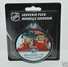 AARON EKBLAD Florida Panthers PLAYER STAR PUCK #5 InGlasCo NEW IN BLISTER