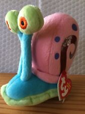 "Ty LICENSED Beanie Baby Babies Gary the Snail 5"" (SpongeBob) NEW MWMT"