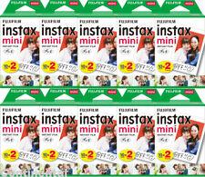 200 Prints Fujifilm Instax Mini Instant Color Film for 9 8 7s 70 NEO 90 Camera