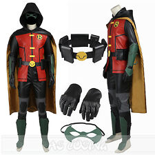 Justice League vs Teen Titans Robin Cosplay Costume Full Set All Size