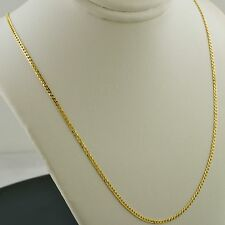 14K YELLOW GOLD 18 INCH 1.5MM WIDE CURB LINK PENDANT CHAIN NECKLACE