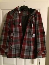 Ladies jackets by Covington Size Small NWT Missy Wine Plaid $100