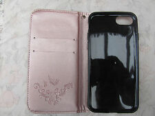 i phone 7 case pink. Pattern and wrist strap.