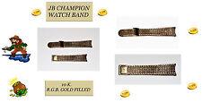 VINTAGE 10K RGB GOLD FILLED MESH. 1960'S JB CHAMPION WATCH BAND. USA SELLER