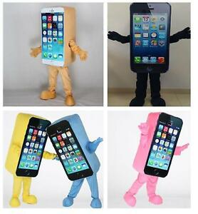 Unique Advertising Parade Mobile Cell Phone Mascot Cosplay Costumes Dress Newly
