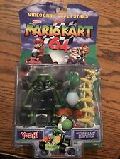 VIDEO GAME SUPER STARS MARIO KART 64 YOSHI FIGURE MOC SEALED TOY BIZ 1999