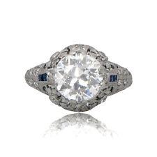 Genuine 2.46ct Antique Engagement Ring - Rare Vintage Diamond Ring. Circa 1910