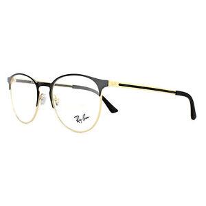 Ray-Ban Eyeglasses Frames 6375 2890 Gold Top on Black 51mm