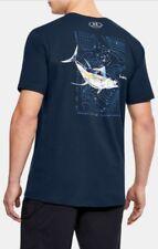 Under Armour * UA Charged Cotton Destination Tuna Tshirt Blue for Men