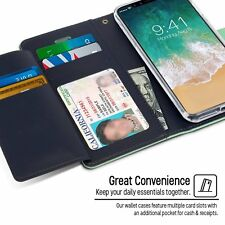 Wallet Card Slot Cover For iPhone X 8 7 6s Plus 5s SE Case Genuine Flip Leather