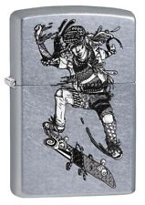 Lighter Zippo Zentangle Skate Boarder