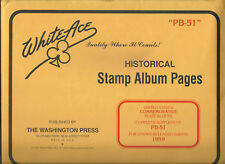 White Ace Stamp Album Pages US Commemorative Plate Blocks PB-51 1999 NOS  WOW! 8