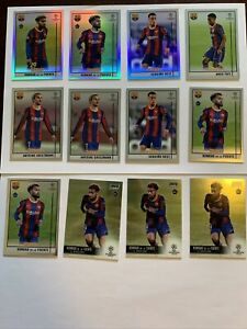 2020-21 Topps Barcelona Lot - Konrad De La Fuente Refractor, Ansu Fati