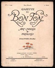 Revue. Gazette du Bon Ton. 1922 George Barbier. Benito, Paul Poiret. Art Déco