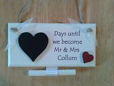 Personalised Engagement Mr & Mrs Wedding Countdown Plaque/Sign Gift Keepsake #22