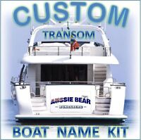CUSTOM BOAT YACHT TRANSOM NAME 800mm Cast Vinyl Decal Sticker Graphic Kit