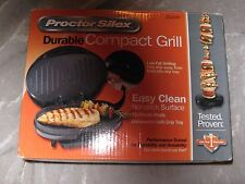 Proctor Silex Compact Grill Nonstick Drip Tray Quick Meal Portable NEW!