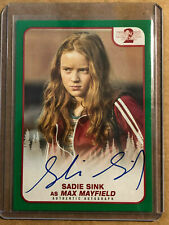 Sadie Sink Topps Netflix Stranger Things Season 2 Max A-MM 33/50 Autograph AUTO