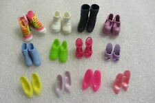 Vintage Barbie Doll 12 Pairs of Shoes Lot Boots Heels Sandals 1980's 1990's