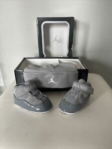 """New Jordan Retro 11 """"Cool Grey"""" Cool Grey/white (TD Size 2C) 2012 Pack With Hat!"""