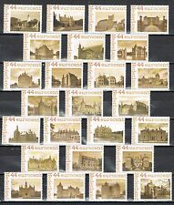 Netherlands complete set of 25 personalized stamps - castles of the Netherlands