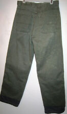 """Faded Glory jeans 100% cotton, waist 27"""" inseam 29"""" olive, 2 extra front seams"""