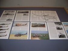 VINTAGE...BELL UH-1B IROQUOIS HELICOPTER...CUTAWAY/PROFILES/SPECS..RARE! (792)