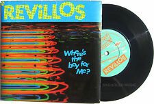 """Punk The REVILLOS 7"""" Where's The Boy For Me ? / The Fiend 1979 LAMINATED Sleeve"""