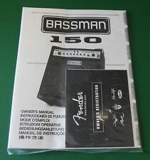 Original Fender Bassman 150 Owner's Manual