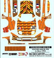 Colorado Decals 1/43 VENTURI 600 LM #30 Le Mans in 1994