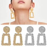 Fashion Punk Geometric Big Drop Dangle Statement Earrings Vintage Women Jewelry