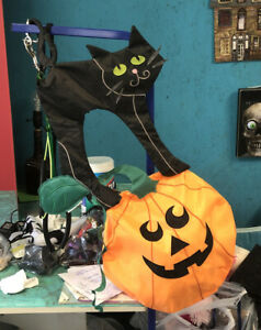 "30"" Black Cat On Pumpkin - Garden Charm by Premier Design  Kites"