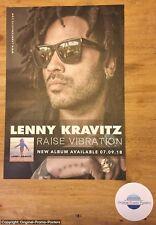LENNY KRAVITZ - RAISE VIBRATION - PROMO AD (purple white 2 lp vinyl cd ticket)