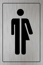 Toilet Door Sign Loo, Lavatory, Gender Neutral, Unisex, Self adhesive