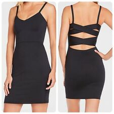NEW FABLETICS Black COMPRESSION Cross Straps MALINDI Stretch BODYCON Dress XS