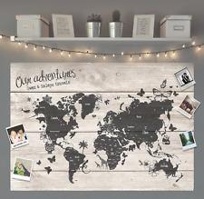 Regalo Personalizzato Viaggio Mondo Mappa bacheca di grandi dimensioni