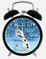 "Frozen Olaf Alarm Desk Clock 3.75"" Home Office Decor W472 Nice For Gift"
