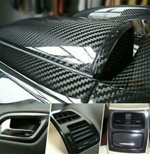 5D Glossy Carbon Fiber Vinyl Film Car Interior Wrap Stickers Auto Accessories