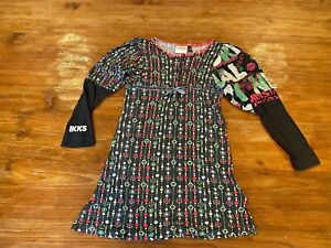 $109 AUTH IKKS GIRLS STUNNING SUPER CUTE FALL/WINTER LONG SLEEVE DRESS 108 US 5