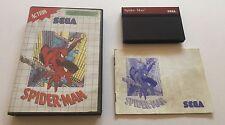 Spider Man Spider-Man Sega Master System Complete PAL Marvel